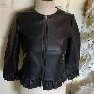 Zara Basic outerwear faux leather jacket size XS